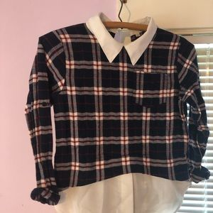 Other - Cute plaid, school girl shirt